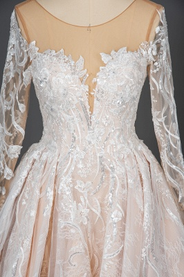 Extravagant wedding dresses with sleeves | Lace wedding dresses princess_6
