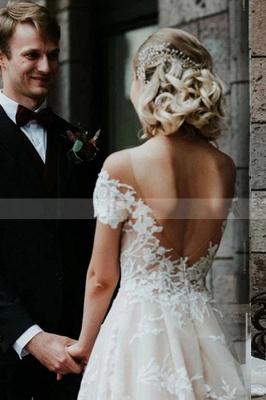 Schlichtes Hochzeitskleid Spitze | Brautkleider mit Ärmel_5