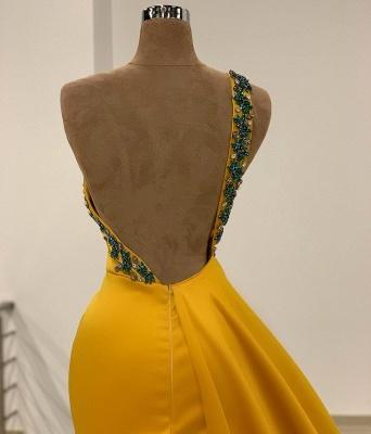 Long Gold Prom Dresses | Evening wear online_3
