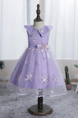 Blue flower girl dresses short | Dresses for flower children_4