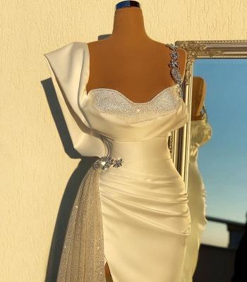 Abiballkleider Lang Glitzer   Weiße Abendkleider Günstig_2