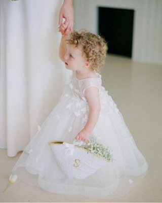 Children's wedding dresses with lace | Flower girl dresses cheap_2