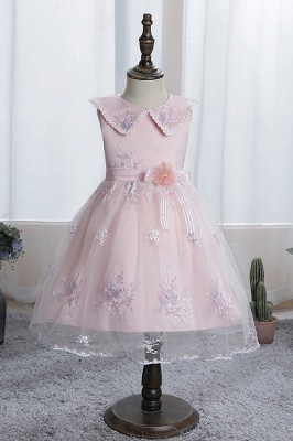 Blue flower girl dresses short | Dresses for flower children_1