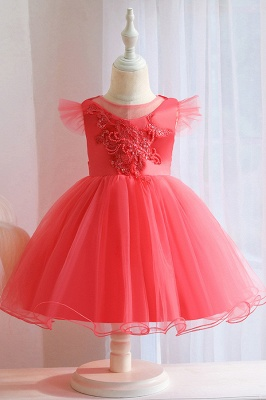 Pink Flower Girl Dresses Cheap | Children's wedding dresses online_3