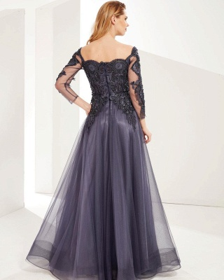 Evening dresses long gray | Prom dresses with sleeves_2