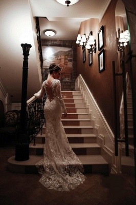 Wedding dresses mermaid lace | Wedding dresses with sleeves_3