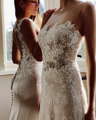 Simple wedding dress mermaid lace | Wedding dresses cheap_3
