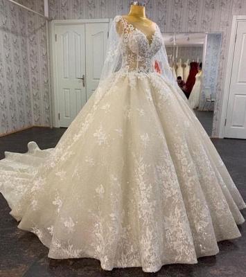 Prinzessin Hochzeitskleider Spitze | Brautkleid mit Ärmel_2