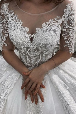 Elegant wedding dresses with sleeves | Wedding dresses princess_2