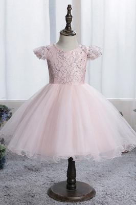 Simple flower girl dress blue | Children's dresses for flower girls_2