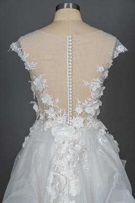 Gorgeous wedding dresses A line | Cheap tulle wedding dresses_6
