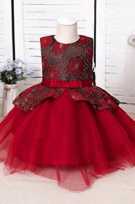 Blue Flower Girl Dresses Cheap | Lace kids dresses_2