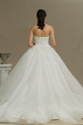 Brautkleider Prinzessin | Tüll Hochzeitskleider mit Spitze_2