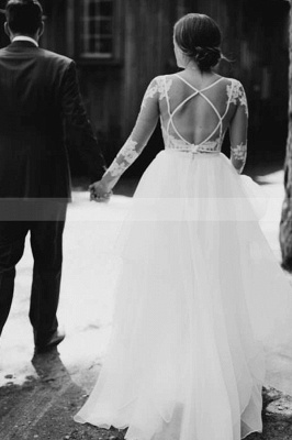 Gorgeous wedding dresses with sleeves | Wedding dresses A line lace_2