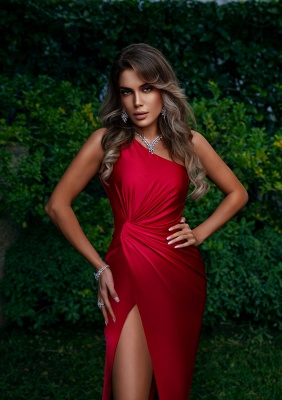 Red Evening Dresses Long Cheap | Simple prom dress_2