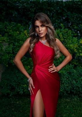 Rote Abendkleider Lang Günstig | Schlichtes Abiballkleid_2
