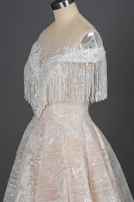 Luxury Brautkleider A Linie | Spitze Hochzeitskleider Günstig_5