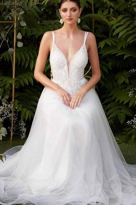 Schlichtes Brautkleid A Linie | Brautkeider Günstig Online_2