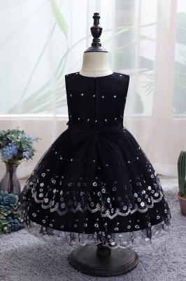 Weiße Blumenmädchenkleider Günstig | Tüll Kinder Hochzeitskleider_3