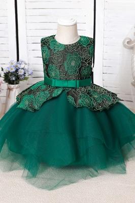 Blue Flower Girl Dresses Cheap | Lace kids dresses_3
