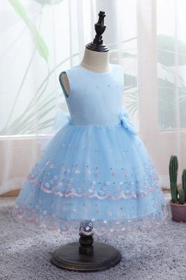Weiße Blumenmädchenkleider Günstig | Tüll Kinder Hochzeitskleider_4