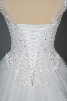 Simple wedding dress A line | Wedding dresses with lace_6