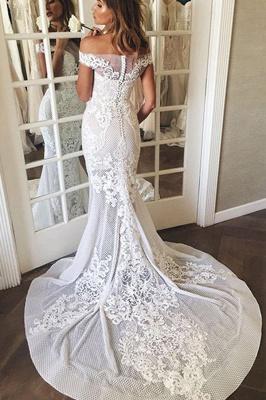 Brautkleid Meerjungfrau Spitze | Hochzeitskleider Günstig Online_4