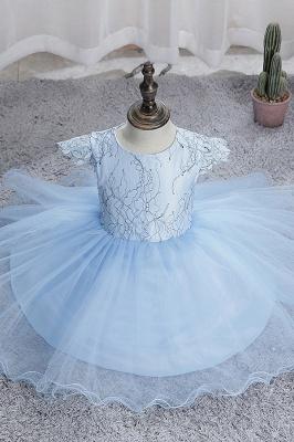 Simple flower girl dress blue | Children's dresses for flower girls_8