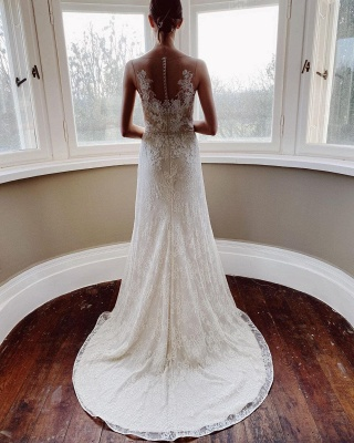 Simple wedding dress mermaid lace | Wedding dresses cheap_2