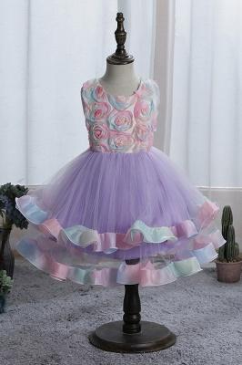 Schicke Blumenmädchenkleider Blau | Kinder Hochzeitskleider Günstig_3