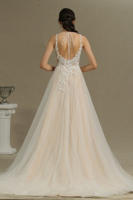 Simple wedding dress tulle | Wedding dresses A line lace_2