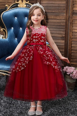 Burgundy flower girl dresses cheap | Children's wedding dresses