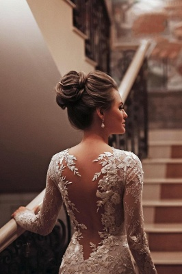 Wedding dresses mermaid lace | Wedding dresses with sleeves_4