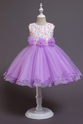 Beautiful blue flower girl dresses | Children's dresses cheap_2