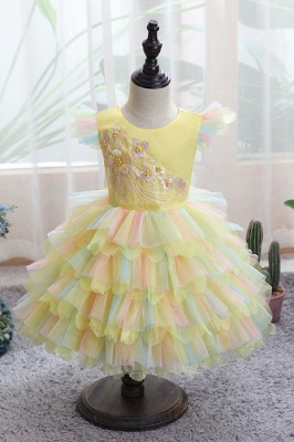 Yellow children's dresses for wedding | Flower girl dresses cheap