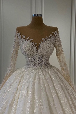 Extravagant wedding dresses with sleeves | Wedding dresses A line_2