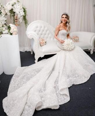 Luxury wedding dresses mermaid lace | Beautiful wedding dresses_2