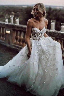 Designer Wedding Dresses With Lace | Wedding dress A line_3