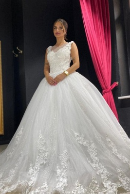 Elegant wedding dresses princess | Tulle wedding dresses with lace