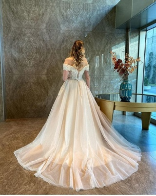 Champagne Wedding Dresses A Line | Cheap Wedding Dresses Online_2