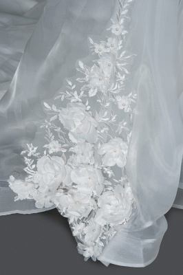 Gorgeous wedding dresses A line | Cheap tulle wedding dresses_5