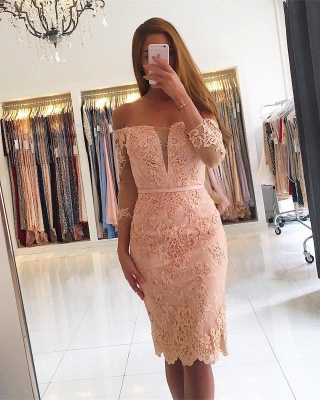 Mint Cocktail Dresses Short Cheap | Evening dresses with sleeves_2