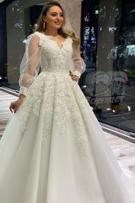 Wedding dresses with sleeves | Wedding dresses lace large size