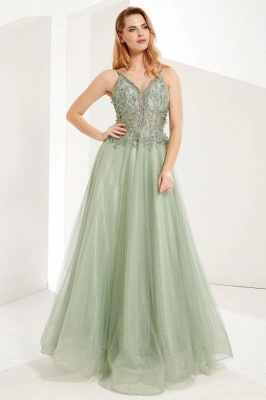 MInt Evening Dresses Long Cheap | Prom dresses with lace_1