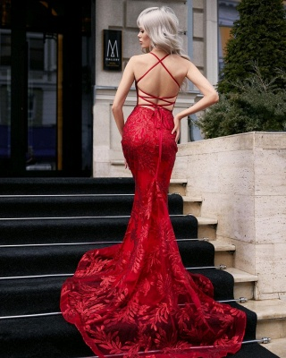 Designer Evening Dresses Long Lace | Red prom dresses cheap_2