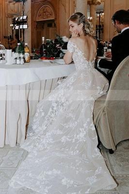 Schlichtes Hochzeitskleid Spitze | Brautkleider mit Ärmel_6