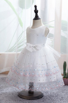 White Flower Girl Dresses Cheap | Tulle kids wedding dresses