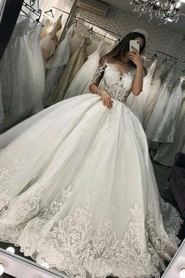 Elegant wedding dresses with sleeves | Wedding dresses princess_1