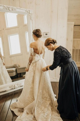 Beautiful wedding dresses with sleeves | Wedding dresses lace_5