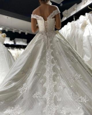 Prinzessin Hochzeitskleider mit Spitze | Günstige Brautkleider_3
